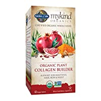Garden of Life mykind Organic Plant Collagen Builder - Vegan Collagen Builder for Hair, Skin and Nail Health, 60 Tablets Packaging May Vary