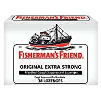 Cough Drops by Fisherman's Friend, Cough Suppressant and Sore Throat Lozenges, Original Extra Strong Menthol Flavor, 38 Count (6 Pack)