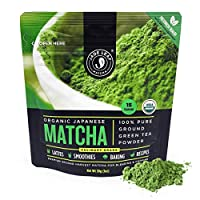 Jade Leaf Matcha Green Tea Powder - USDA Organic, Authentic Japanese Origin - Culinary Grade - Premium 2nd Harvest - (Lattes, Smoothies, Baking, Recipes) - Antioxidants, Energy [30g Starter Size]