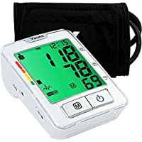 Vaunn Medical Fully Automatic Accurate Upper Arm Digital Blood Pressure Monitor and Pulse Rate Monitoring Machine (Sphygmomanometer) with Patented Smartcheck and GentleRead Technology - FDA Cleared