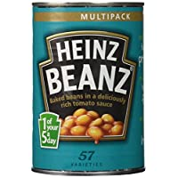 Heinz Baked With Tomato Sauce, 14.1-Ounce Tins (Pack of 12)