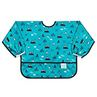 Bumkins  Sleeved Bib / Baby Bib / Toddler Bib / Smock, Waterproof, Washable, Stain and Odor Resistant, 6-24 Months  - Outdoors