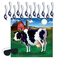 Beistle Pin the Tail on the Cow Game   14-Pcs Game   1-Pack