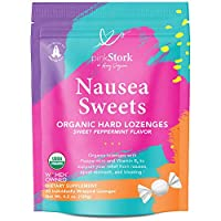 Pink Stork Nausea Sweets: Lite Peppermint, Organic Hard Candy, Nausea Relief + Morning Sickness Relief for Pregnant Women + Bloating + Digestion + Migraine Relief, Vitamin B, Women-Owned, 30 Lozenges