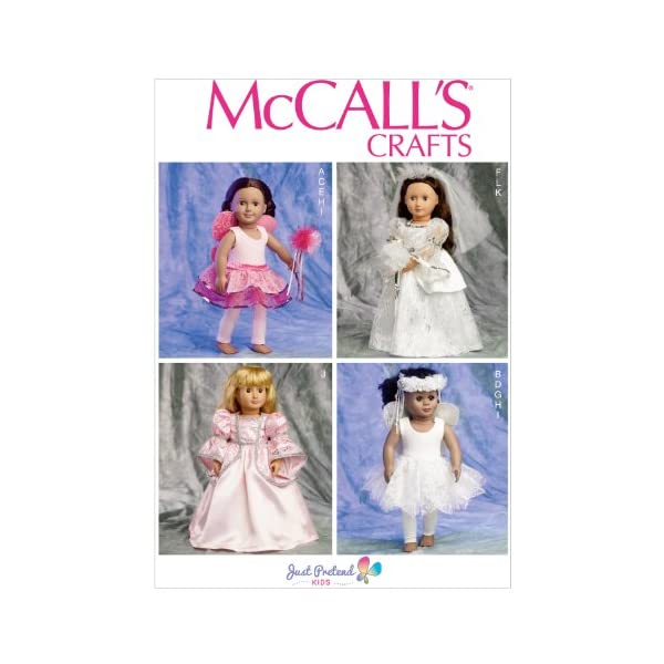 McCalls Patterns M3627 18-Inch Doll Clothes One Size Only