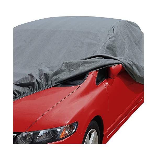 Waterproof Outdoor UV Protection for Heavy Duty Use Full Cover for Cars up to 210 Motor Trend 4-Layer 4-Season