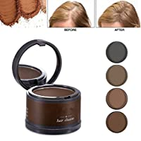 Magical Fluffy Thin Hair Powder Hair Line Shadow Makeup Hair Concealer Root Cover Up Instant Gray Coverage 4g (04 gray)