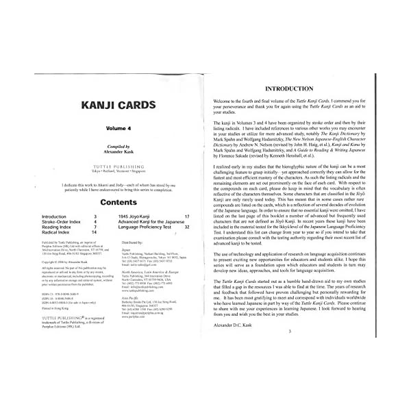 Learn 448 Japanese Characters Including Pronunciation Kanji Cards Kit Volume 2 Sample Sentences /& Related Compound Words