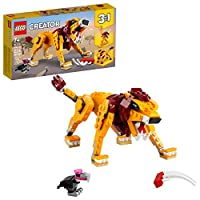 LEGO Creator 3in1 Wild Lion 31112 3in1 Toy Building Kit Featuring Animal Toys for Kids, New 2021 (224 Pieces)