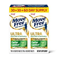 Calcium & Calcium Fructoborate Based Ultra Faster Comfort Joint Health Supplement Tablets, Move Free (60 count in a bottle), Clinically Proven Joint Comfort in 1 Tiny Pill A Day (Packaging May Vary)