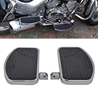 AQIMY Chrome Floorboards Passenger Footboard Kit Foot Rest Pegs for Harley Touring Electra Glide Road Glide Road King Dyna Sportster Chrome