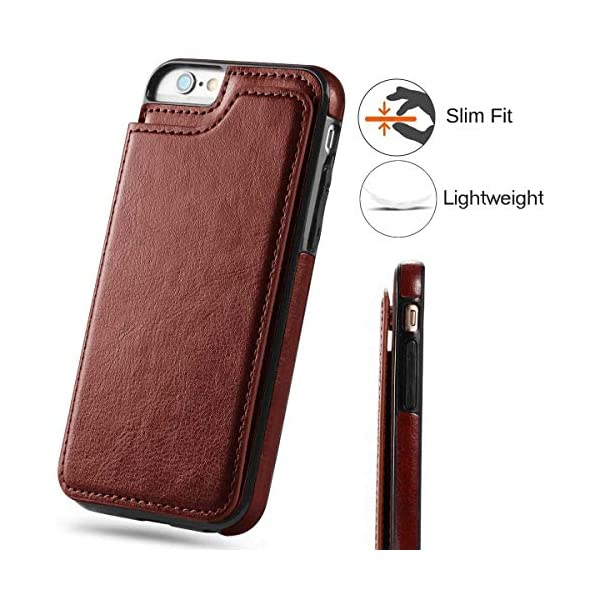 Black iPhone 6s Plus Wallet Case with Card Holder,iPhone 6 Plus Case Wallet,i-Dawn Slim Fit Premium Leather iPhone 6S Plus Wallet Casae Card Slots Pocket Durable Shockproof Folio Flip Protective