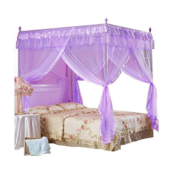 Mosquito net Bed curtains mosquito 4 corner big space square canopy Multicolors