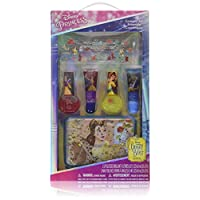 Townley Girl Disney Beauty and the Beast Kiss it Paint it Lip Gloss and Nail Polish Set with Glittery Makeup Case