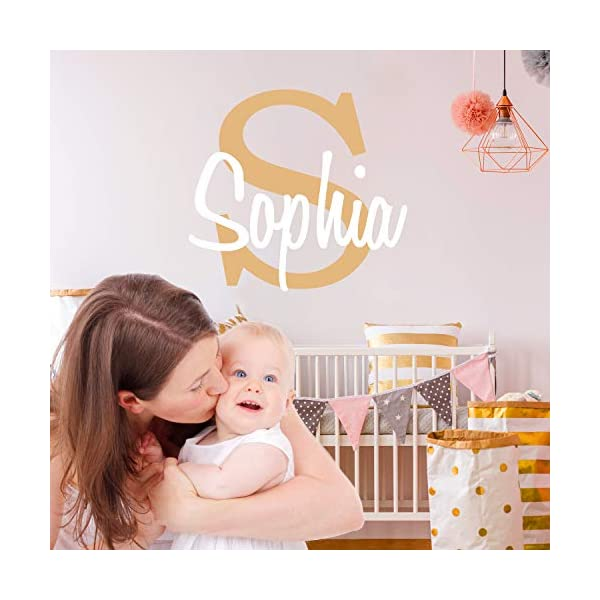 Custom Name /& Initial Prime Series Baby Boy Girl Unisex Wide 22 x 15 Height Wall Decal Nursery for Home Bedroom Children
