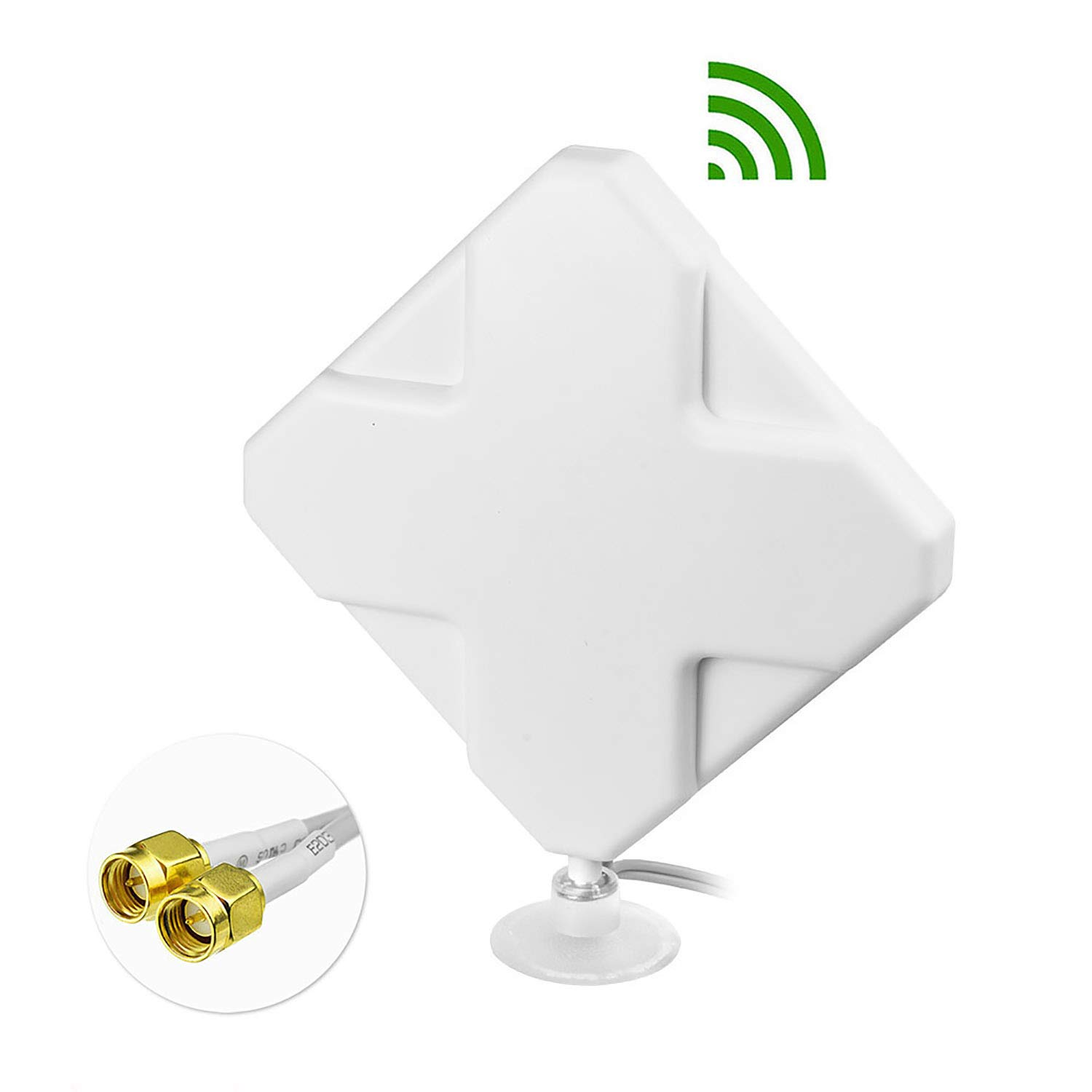 Bingfu 4G LTE Antenna Adapter Splitter Cable SMA Female to Dual SMA Male V-Shape Cable 15cm for 4G LTE Home Phone Router Gateway Modem MiFi Mobile Hotspot Cellular Router