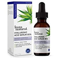 Hyaluronic Acid 85% Face Serum - Natural Anti Aging Formula for Fine Lines & Wrinkles to Hydrate, Moisturize & Plump Dull, Dry Skin - With Niacinamide & NASA Stem Cell Technology - InstaNatural - 1 oz