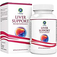 Liver Cleanse and Support Supplement – Milk Thistle Extract (Silymarin), Turmeric Curcumin, Dandelion Root, Artichoke, N Acetyl L Cysteine, Vitamin B12 and More in 2 Vegetarian Capsules