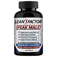 Peak Male: The Ultimate Men's Health Supplement - Raises T Levels, Targets Belly Fat, Builds Muscle & Strength; Boosts Energy & Libido, Reduces Stress. Powerful Herbs, Vitamins & Minerals - 120 Pills