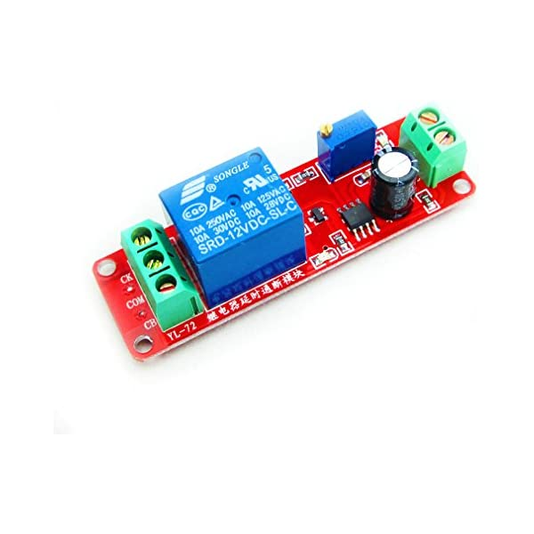 NE555 Delay Module shield Timer Switch DC 12V Adjustable 0 to 10 Second