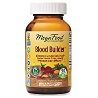 MegaFood, Blood Builder, Daily Iron Supplement and Multivitamin, Supports Energy and Red Blood Cell Production Without Nausea or Constipation, Vegan, 90 Count (90 servings)