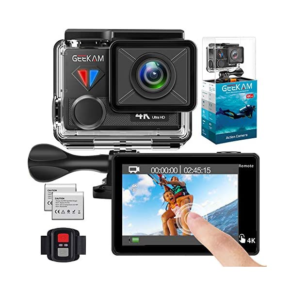 Navitech 50-in-1 Action Camera Accessories Combo Kit with EVA Case Compatible with The Crosstour 4K 16MP Sport Action Camera