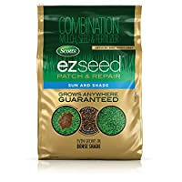 Scotts EZ Seed Patch and Repair Sun and Shade, 40 lb. - Combination Mulch, Seed and Fertilizer, Tackifier Reduces Seed Wash-Away - Full Sun, Dense Shade, High Traffic Areas - Covers up to 890 sq. ft.