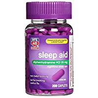 Rite Aid Sleep Aid Caplets, Diphenhydramine HCl, 25mg - 200 Count | Sleep Relief