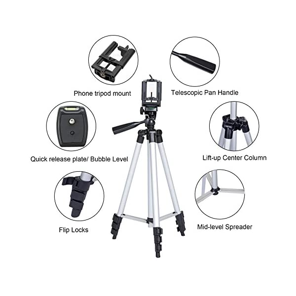 heaven2017 Aluminium Alloy Professionals Stand Tripod Photogragh Tripod for Camera