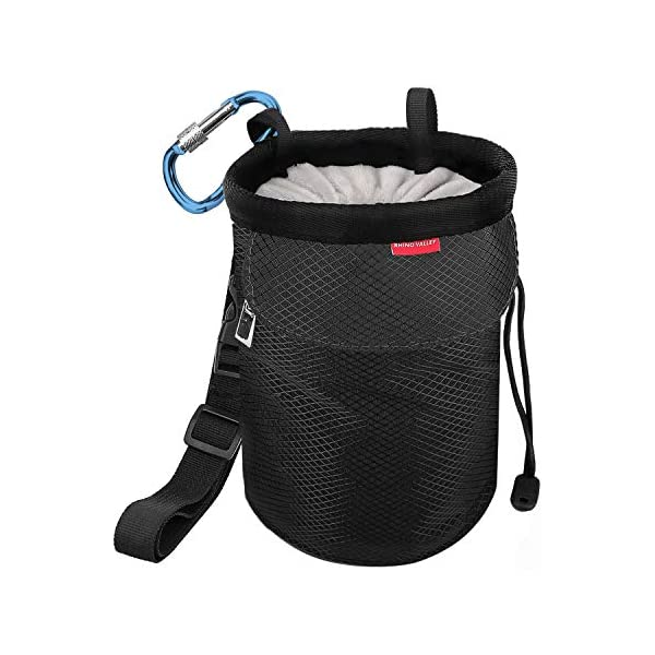 Athletrek Rock Climbing Chalk Bag with Quick-Clip Belt Strap Two Large Zipper Pockets Use Also for Bouldering Weight Lifting Gymnastics Crossfit Chalk Not Included Reusable Chalk Ball