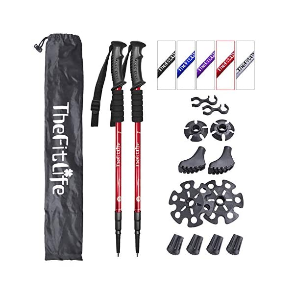 Telescopic Collapsible EASY BIG Walking Stick Trekking Poles Collapsible Hiking Poles Ultralight Auminum Alloy 7075 Trekking Sticks,Antishock and Quick Lock System