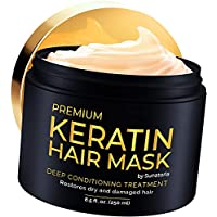 2021 Premium Keratin Hair Mask - Professional Treatment for Hair Repair, Nourishment & Beauty - Hair Mask - Vitamin Complex for All Hair Types - with Omega 3, 9, Vitamin E - Protein Nourishment Mask