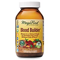 MegaFood, Blood Builder, Daily Iron Supplement and Multivitamin, Supports Energy and Red Blood Cell Production Without Nausea or Constipation, Gluten-Free, Vegan, 180 Count (180 servings)