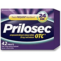 Prilosec OTC Omeprazole, Frequent Heartburn Relief Medicine & Acid Reducer, 42 Count, Delayed-Release 20mg Tablets