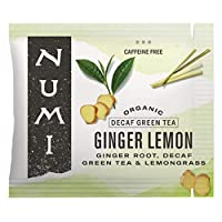 Numi Organic Tea Ginger Lemon, 100 Count Box of Tea Bags, Herbal Blend with Decaf Green Tea (Packaging May Vary)