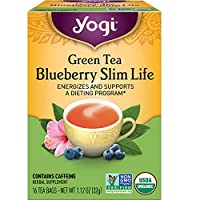 Yogi Tea - Green Tea Blueberry Slim Life (6 Pack) - Energizes and Supports a Dieting Program - 96 Tea Bags Total