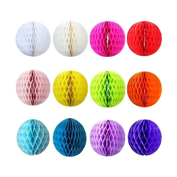 8cm SUNBEAUTY 3 Pack of 20 Tissue Paper Navy Color Honeycomb Balls Wedding Decoration Birthday Baby Shower Bridal Shower