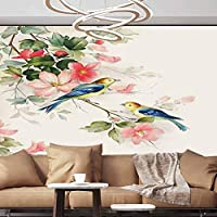 Albert Lindsay Backdrop Wall Paper Decorations Beautiful View of The Mountains Flowers Paperhanging Wallpaper,154