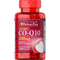 Puritan's Pride CoQ10 200mg, Supports Heart Health, 240 Rapid Release Softgels