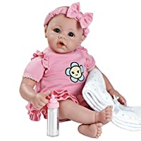 Adora BabyTime Collection in Pink with Newborn Baby Doll, Soft Blanket & Feeding Bottle
