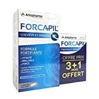 Arkopharma Forcapil Vitamins for Hair Loss, Volumizing, and Nails 180 Caps+ 60 Caps for Free