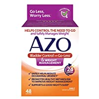 AZO Bladder Control with Go-Less® & Weight Management Dietary Supplement | Helps Reduce Occasional Urgency* | Promotes Healthy Metabolism* | Supports a Good Night's Sleep* | 48 Capsules