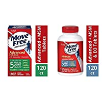 Move Free Glucosamine & Chondroiton Plus MSM Advanced Joint Health Supplement Tablets(120) and Comfort and Glucosamine and Chondroitin Plus MSM & D3 Advanced Joint Health Supplement Tablets(120)