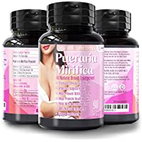 Natural Pueraria Mirifica Capsules 2000mg Daily - Breast Enhancement Pills for Women - Breast Growth Pills, Vaginal Health, Menopause Relief, Skin and Hair Health 90 Veggie Capsules