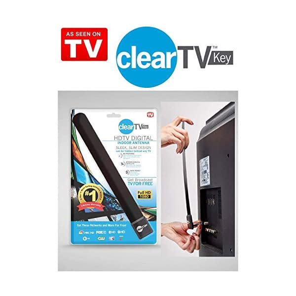 Amiley TV Key HDTV FREE TV Digital Indoor Antenna 1080p Ditch Cable As Seen on TV