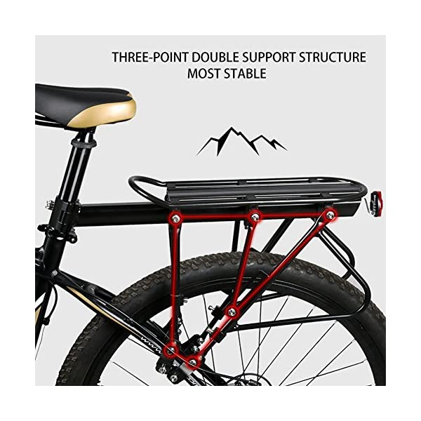 Aluminum Alloy Bike Front Shelf Bicycle Goods Carrier Pannier Luggage Rack Pro