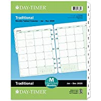 Day-Timer 2020 Monthly Planner Refill, 8-1/2