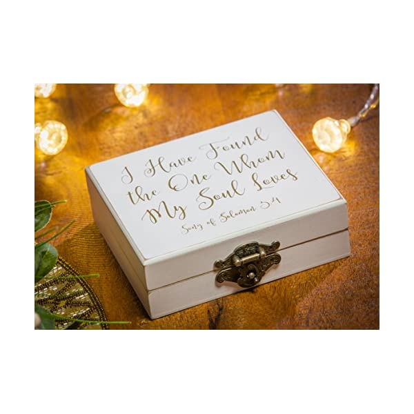 and Mrs Song of Solomon 3:4 Mr Cypress Home I Have Found The One Whom My Soul Loves 5 W x 6 D x 2 H Wooden Ring Holder Decorative Box