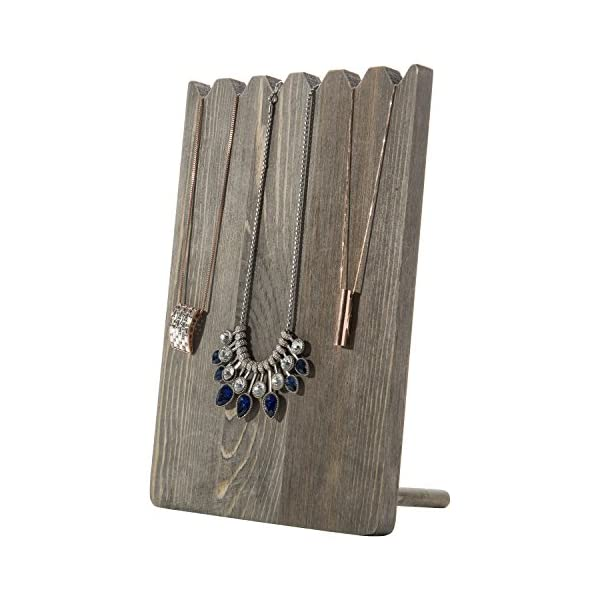 Barnwood Gray Adjustable-Length Necklace Holder Jewelry Display Stand