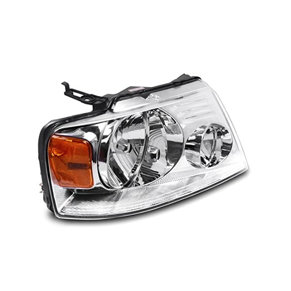 Compatible with Lincoln Mark LT 06 2007 2008 Driver and Passenger Side Pair Headlamps Amber Reflector FO2502201 FO2503201 Partsam Headlight Assembly Replacement for Ford F150 04 05 06 07 08 Pickup